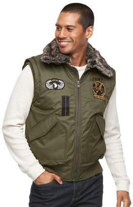 X-Ray Xray Men's XRAY Slim-Fit Faux-Fur Military Vest