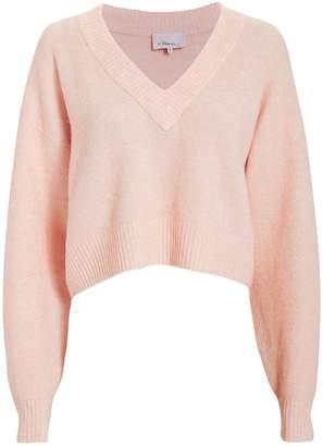 3.1 Phillip Lim Lofty V-Neck Blush Sweater
