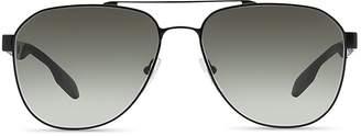 Prada Punched Aviator Sunglasses, 60mm