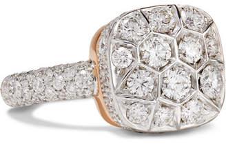 Pomellato Nudo 18-karat Rose And White Gold Diamond Ring