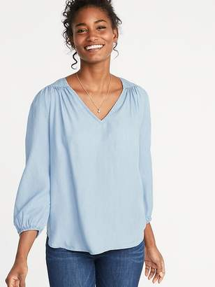Old Navy Shirred Tencel® Swing Blouse for Women