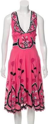 Temperley London Embellished Halter Dress