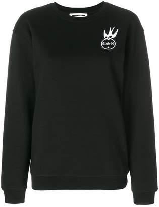 McQ embroidered patch detail sweatshirt
