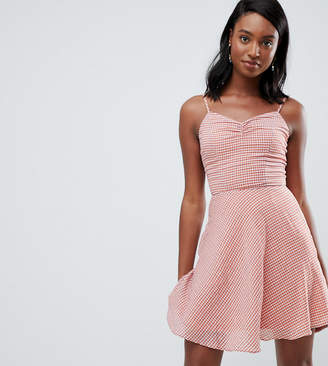 Glamorous Tall cami dress in check
