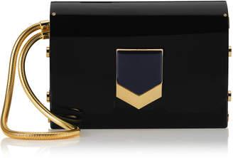 Jimmy Choo LOCKETT MINAUDIERE Black Acrylic Clutch Bag
