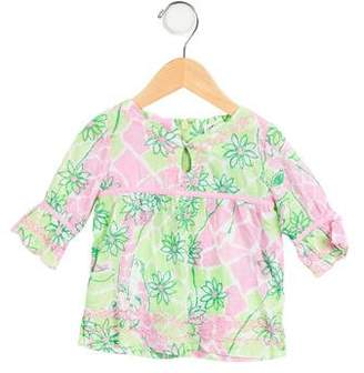 Lilly Pulitzer Girls' Printed Long Sleeve Top