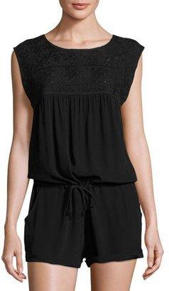 L Space Swimwear by Monica Wise Carly Sleeveless Romper, Black $129 thestylecure.com