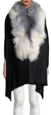 Linda Richards Fox Fur Trim Wrap