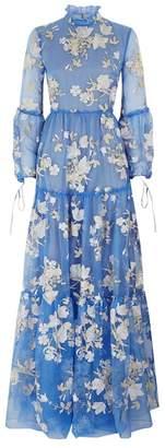 Erdem Cassandra Tulip Embroidered Gown