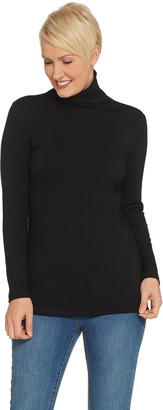 Women With Control Attitudes by Renee Finespun Jersey Funnel Neck Knit Top