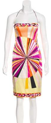 Emilio Pucci Silk Jersey Mini Dress