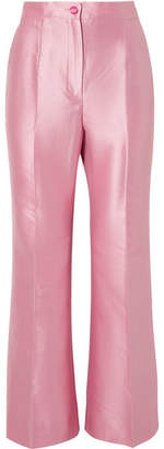 Dolce & Gabbana Two-tone Cotton-blend Faille Straight-leg Pants - Baby pink