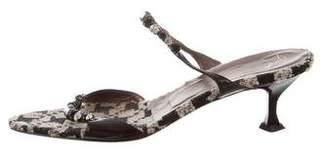 Giuseppe Zanotti Jewel-Embellished Slide Sandals