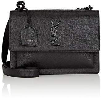 Saint Laurent Women's Monogram Sunset Medium Leather Satchel