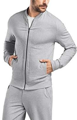 96d461f3f Hanro Mens Living Zip Jacket Pajama Top - Gray