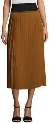 Maison Pere Wool Pleated Midi Skirt