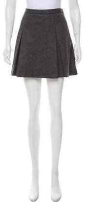 RED Valentino Wool Pleated Skirt