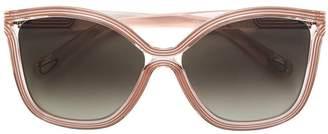 Chloé Eyewear oversized gradient lens sunglasses