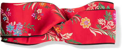 Gucci Gucci - Twisted Jacquard Headband - Red