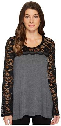 Karen Kane Lace Sleeve Sweater Women's Sweater