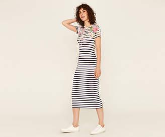 Oasis LONG PALM STRIPE DRESS