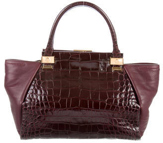 Lanvin Embossed Trilogy Tote $595 thestylecure.com