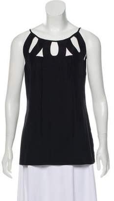 Loeffler Randall Sleeveless Cut-Out Top