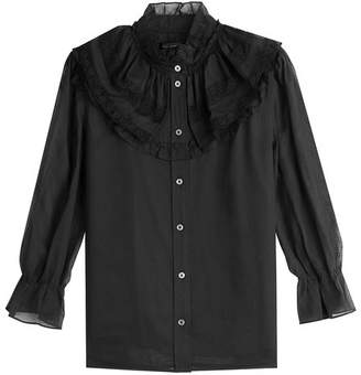 Marc Jacobs Silk Blouse with Lace