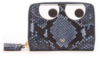 Anya Hindmarch Eyes Python Effect Leather Wallet - Womens - Blue Multi