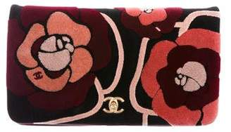 Chanel 2017 Paris-Cosmopolite Camellia Velvet Clutch Bag