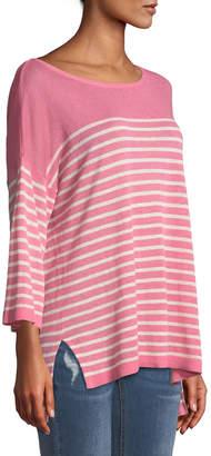 NYDJ Serra 3/4-Sleeve Striped Sweater
