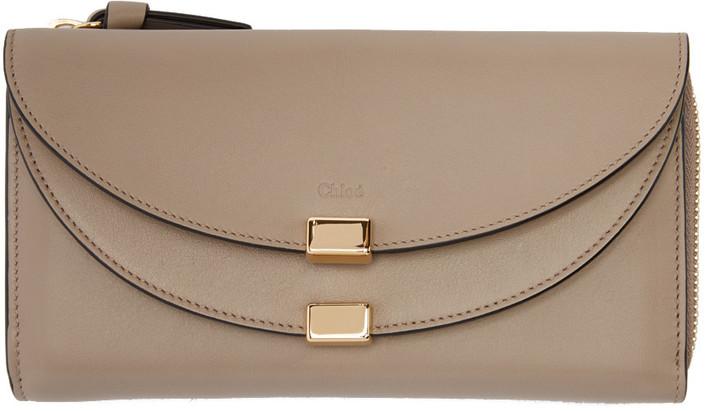 Chloé Chloé Grey Long Georgia Zip Wallet