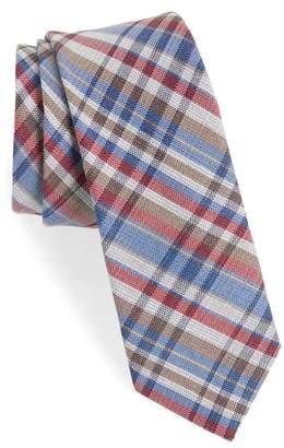 1901 Donelly Plaid Linen & Silk Tie