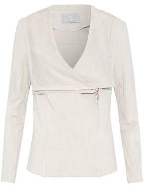 Tart Collections Draped Faux Suede Jacket