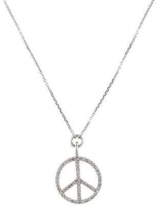 14K Diamond Peace Sign Necklace
