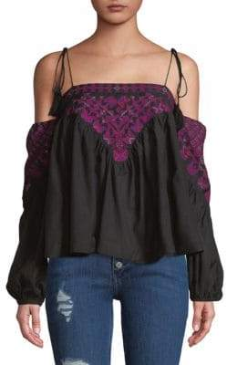 Free People Vacay Vibin Strappy Off-Shoulder Top