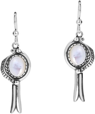 American West Sterling Gemstone Squash BlossomEarrings