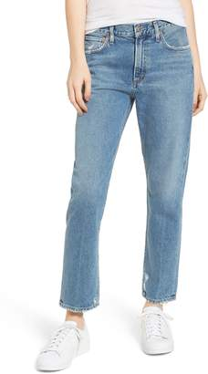 A Gold E AGOLDE Cigarette High Waist Jeans