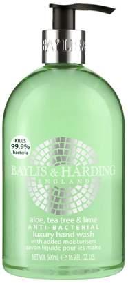 Baylis & Harding England Aloe, Tea Tree & Lime Anti-Bacterial Luxury Hand Wash 500ml
