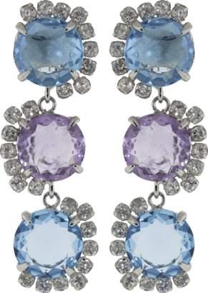 Bounkit JEWELRY Amethyst & Quartz Earrings