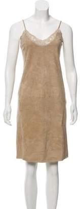 Ralph Lauren Suede Sleeveless Dress