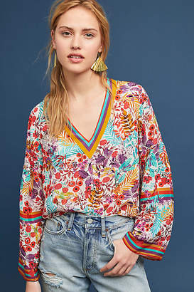 Geisha Designs Sporty Floral Blouse