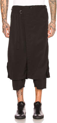 Yohji Yamamoto Wrap Pants in Black   FWRD