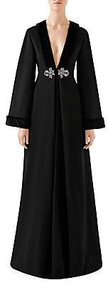 Gucci Women's Embellished Faux Fur-Trim Gown