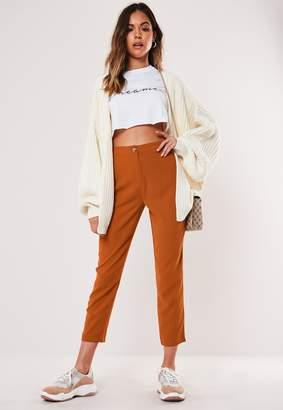 Missguided Petite Rust Cigarette Trousers