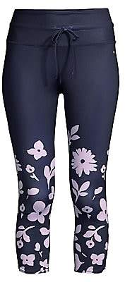 Kate Spade Women's Floral Print Cropped Workout Leggings