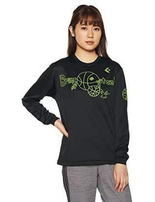 Converse (コンバース) - [コンバース] バスケットボールウェア 機能プリントロングスリーブTシャツ CB382304L [レディース] ブラック 日本 S (日本サイズS相当)