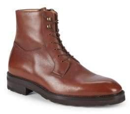Paul Stuart Lace-Up Leather Boots
