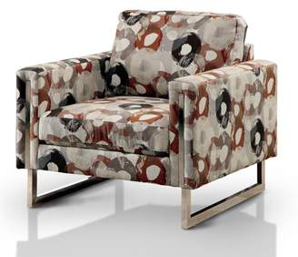 Melania Furniture of America Contemporary Printed Arm Chair, Pewter