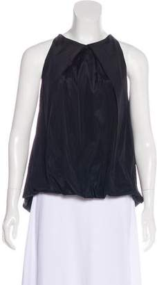 Donna Karan Sleeveless Pleated Top